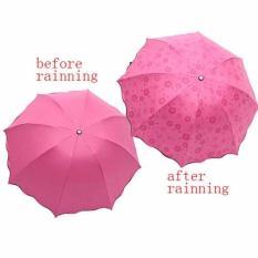 Model Dapurbunda Payung Lipat Magic Ajaib 3D Payung Hujan 3D 3 Dimensi Ajaib Magic Umbrella Pink Muda Terbaru