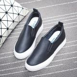 Jual Musim Semi Baru Sol Tebal Sepatu Slip On Sepatu Kets Putih Hitam Satu Set