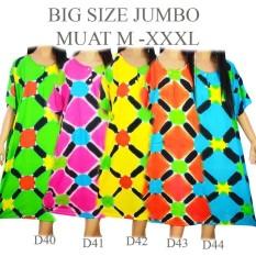 Daster Batik Baju Tidur Jumbo big size XXL D40D41D42D43D44 PINK