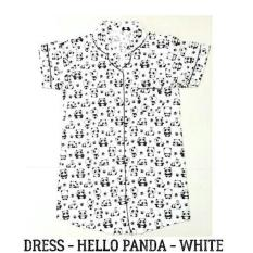 Daster Dewasa - Hello Panda White Dress Pajamas Baju Tidur Piyama Lucu - Abl9qc