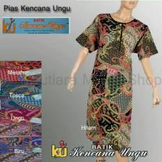 Daster Ibu Busui Kencana Ungu Baju Tidur Santai Dress Batik