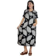 Daster Jumbo Lengan Pendek Batik, Baju Tidur Jumbo, Piyama Jumbo, Kancing, Daster Bumil - Busui (DPT003-64)
