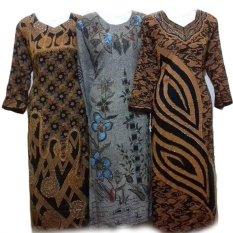 Jual Daster Longdres Motif Benang Emas Bahan Batik Pekalongan Di Dki Jakarta