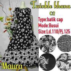 Daster Longdress Gamis Gaun Batik Monochrome Baju Hamil Busui Jumbo