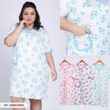 Jual Daster Spandek Import Jumbo Baju Tidur Cewek Big Size Murah Pakaian Wanita Gemuk Gendut Dress Large Griya Uswah Ori