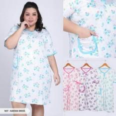 Daster Spandek Import Jumbo Baju Tidur Cewek Big Size Murah Pakaian Wanita Gemuk Gendut Dress Large Griya Uswah Diskon 30