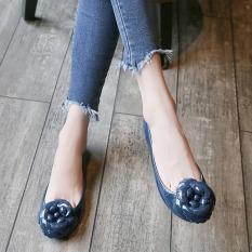 Harga Datar Kamelia Bunga Jelly Sepatu Tahan Air Sandal Biru Navy Terbaik