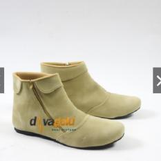 Davagold - SEPATU WANITA BOOTS SUEDE //MURAH//BARU // BKD.