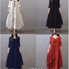 DaveCollection - Dress Visgel Rayon Adem - Abu abu Tua