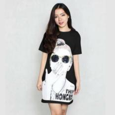 DaveCollection - Long Dress Hk - Black