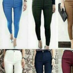 Jual Davecollection Super Streech Jegging Blue Davecollection Asli