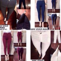 Spesifikasi Davecollection Super Streech Jegging Maroon Yg Baik