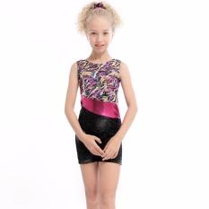 Daxiang 3-15y Gadis Bllet Tutu Patchwork Pita Balet Profesional Rajutan Senam-Intl By Daxiangstore.