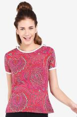 Dazzle And Angel Batik Art Red Women Tees Diskon discount murah bazaar baju celana fashion brand branded