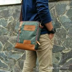 Beli Dazzle Bag Hoozler Tas Selempang Pria Muat Tablet 10 Inch Hp Powerbank Charger Token Bank Army Hijau