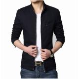 Promo D Blazer Jas Blazer Pria Resleting Zipper Model Jaket Simple T 013 Hitam Black