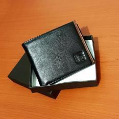 DC Dompet Fashion Pria 10-11H 6 Inch Original Kulit Sapi Asli - Black