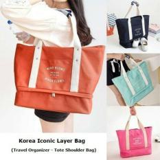 Jual Beli D Cheryl Korea Iconic Layer Tote Bag Pink Di Dki Jakarta