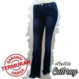 Harga Celana Jeans Cutbray Sobek Sobek Bawah Rumbai Online Jawa Timur