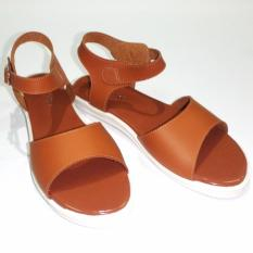 Harga Anneliese Sandal Flat Wanita Polonia Tan Anneliese Original