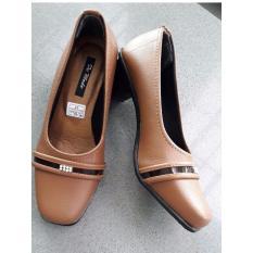 De Mode Sepatu Wanita Formal / Sepatu Kerja / Sepatu Pantofel TB6 Tan
