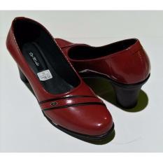 De Mode Sepatu Wanita Formal / Sepatu Kerja / Sepatu Pantofel RD3 Merah Hati