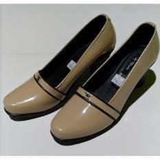 De Mode Sepatu Wanita Formal / Sepatu Kerja / Sepatu Pantofel RD1 Krem