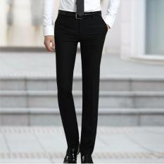 Nusantara Jeans Celana Bahan Pria Formal Kantoran Premium Kuality Slim Fit - Hitam