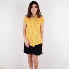 De Voile Atasan Batik Wanita Befina Side Btn (Yellow)