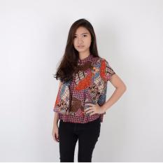 Jual De Voile Batik Fashion Wanita Modern Kasina Hlbt Tp Purple Termurah