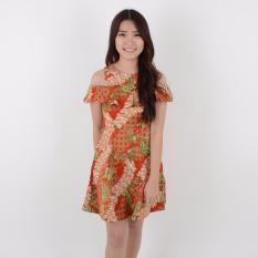 Harga De Voile Batik Fashion Wanita Modern Sab Anita Dress Orange Origin