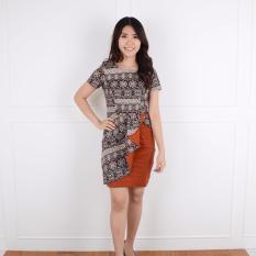 Harga De Voile Dress Batik Wanita Yeriko Sht Assp Orange De Voile Original