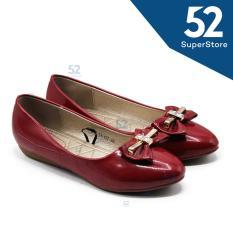 Toko Dea Flat Shoes Wanita 1612 31 161 Burgundy Size 36 41 Lengkap Jawa Timur
