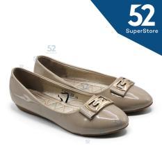 Review Dea Flat Shoes Wanita 1612 32 168 Khaki Size 36 41 Terbaru