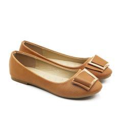 Beli Dea Sepatu Flat Wanita Trepes Selop Flat Shoes 1607 106 Camel Size 36 41 Dea Murah