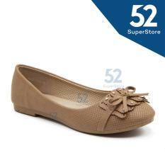 Dapatkan Segera Dea Sepatu Flat Wanita Trepes Selop Flat Shoes 1607 110 Khaki Size 36 41