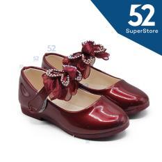 Diskon Dea Sepatu Sandal Anak Perempuan Flat Shoes Velcro 1704 138 Bordeaux Maroon Size 26 30 Branded