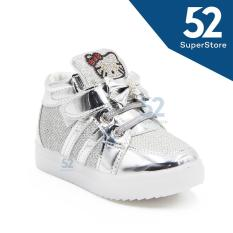 Dea Sepatu Sneaker LED Anak Perempuan 1706-109 Silver - Size 26/30
