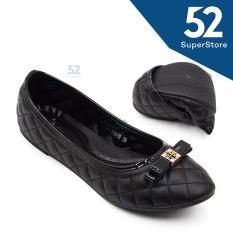 Toko Dea Shoes Ladies Flat Shoes 1702 10 Black Size 36 41 Online Terpercaya