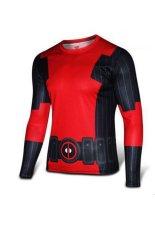 Toko Deadpool X Men S Busana Kasual Pria Lengan Panjang Katun Motif Kaus Merah Hitam Terlengkap Indonesia