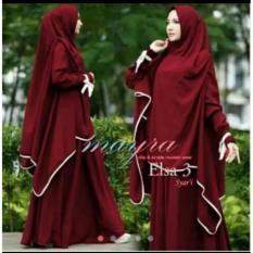 Debbie Gallery Baju Muslim Syari Najwa DG0005- Maroon / Dress Muslimah / Hijab Muslim / Gamis Syari / Baju Muslim / Fashion Muslim / Dress Muslim / Fashion Maxi / Setelan Muslim / Atasan Muslimah / Kebaya Modern / BLZ