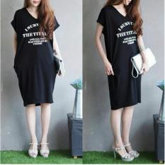 Rp 68.000. Debbie Gallery T-Shirt Dress Lengan Pendek FS0367 - HITAM / Gaun Kaos Wanita / Baju Terusan / RnsurvivedIDR68000