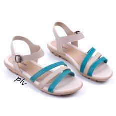 Pluvia - Sepatu Sandal Flat Wanita Tali Terbaru AD07 - Toska