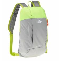 Decathlon Quechua Arpenaz 10L Day Hiking Backpack - Grey and Green Tas Rangsel Gunung Sepeda Lari Sekolah  10L