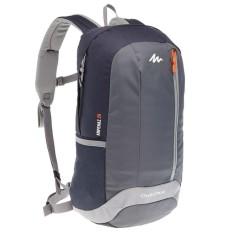 Decathlon Quechua Arpenaz 20 L Day Hiking Backpack - Black Grey Tas Rangsel Gunung Sepeda Lari Sekolah 20L