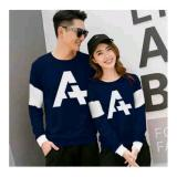 Ratucouple Kaos Couple Letter A Kaos Oblong Sweater Couple Cp A T Shirt Pasangan Pakaian Kembar Kaos Pria Wanita 2L Navy Ladies Fashion Diskon 30