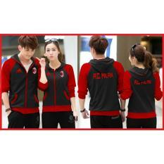 Jual Ratucouple Jaket Pasangan Milan Jacket Couple Ac Milan Fans Club Jaket Bola Sepasang Jacket G*rl Jaket Pria Lc Hitam Indonesia Murah