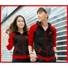 DeCouple Jaket Pasangan Wanita dan Pria Model A / Jacket Couple / Jaket Sepasang / Jacket Girl & Jaket Pria LC - Hitam