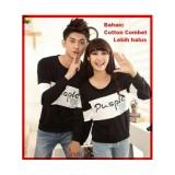 Beli Ratucouple Kaos Couple Lengan Panjang Pusple Kaos Oblong Cotton Combed Pasangan T Shirt Pasangan Pakaian Kembar Kaos Pria Wanita Lc Hitam Kredit