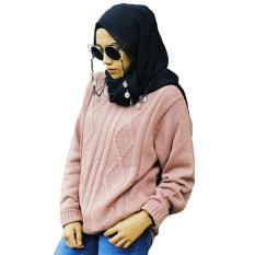 DEcTionS Atasan Wanita Rajut Andien Cable - Dusty Pink